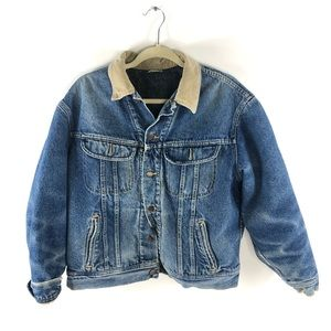 Vintage Lee Western Denim Jacket Cowboy Distressed